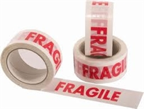 FRAGILE Printed Packing 48mm x 66M( 6 Rolls Per Pack)