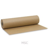 500mm x 25M Strong Brown Pure Kraft Wrapping Paper Roll