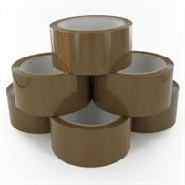 Brown (Buff) Packing Tapes 48mm x 50M( 6 Rolls Per Pack)
